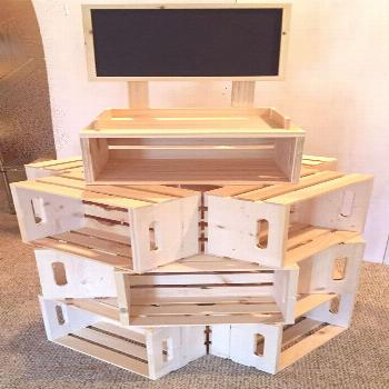 crate display stand