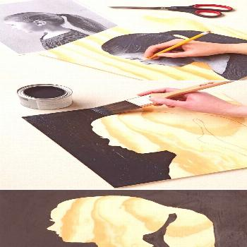 Create a silhouette on wood. | Community Post: 22 Incredibly Easy DIY Ideas For Creating Your Own A