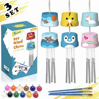 HOSKO 3-Pack DIY Wind Chime Kits- Arts and Crafts for Boys