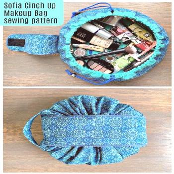 Sofia Cinch-Up Makeup Bag sewing pattern -