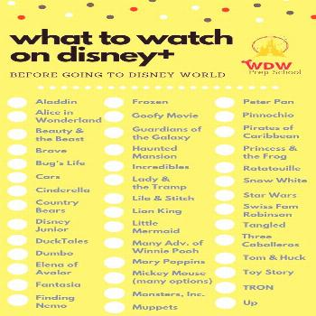 What to watch on Disney+ before you go to Disney World | WDW Prep It's the ultimate list of must wa